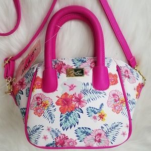 Betsey Johnson Floral White Pink Tropical Island